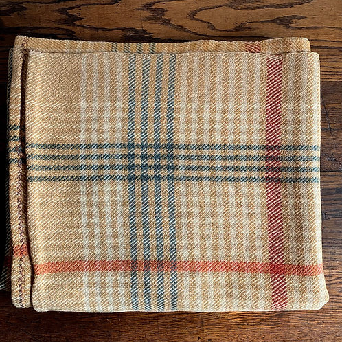 Heavy Vintage Wool Check Blanket
