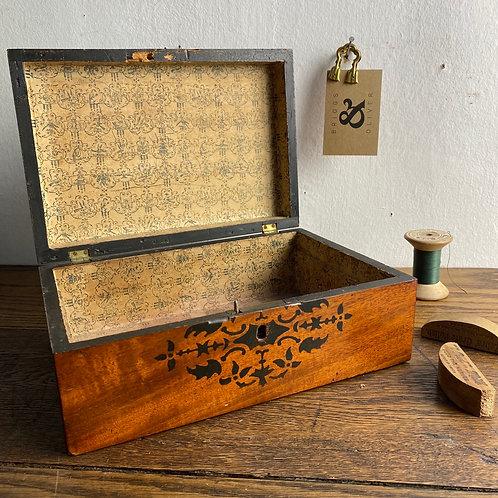 Antique Mahogany Box