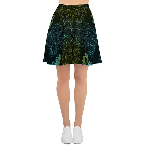 120 Barb Wire Colorwild I V3 Skater Skirt