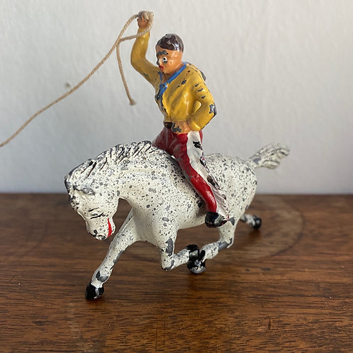 Vintage Lead Cowboy & Horse