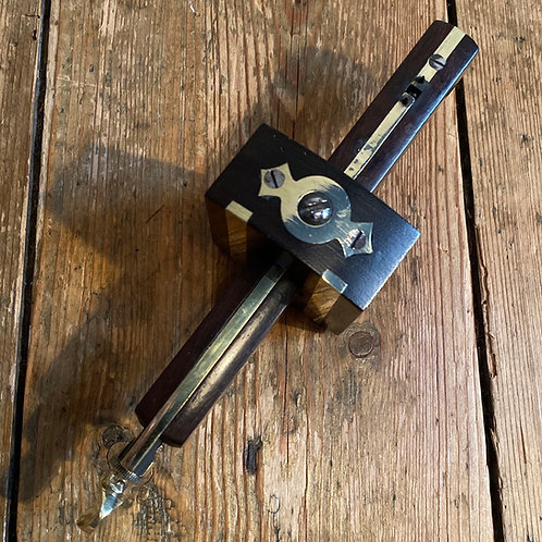 Antique Rosewood and Brass Marking Gauge by Marples & Sons