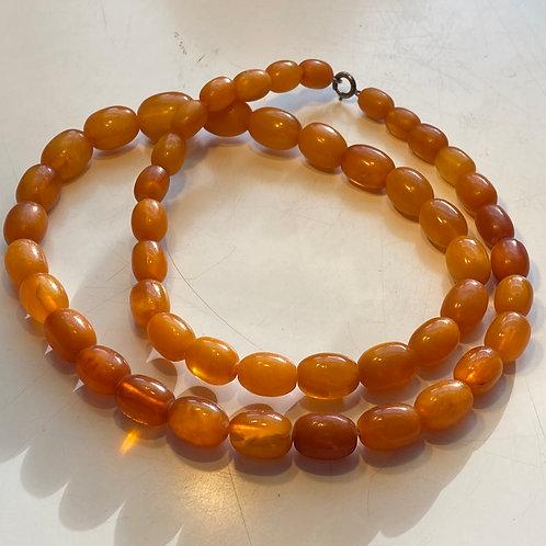 Antique Butterscotch Amber Beads