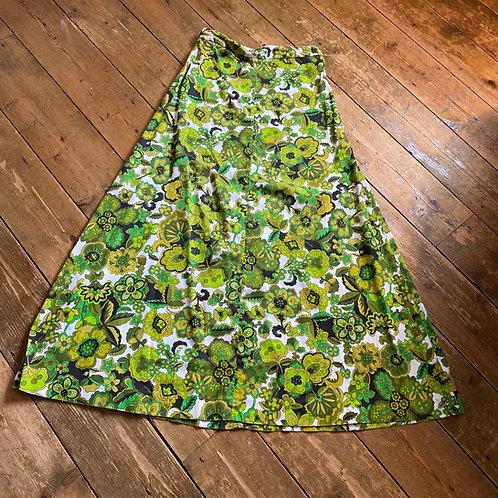 Vintage 1970's Cotton Maxi Skirt