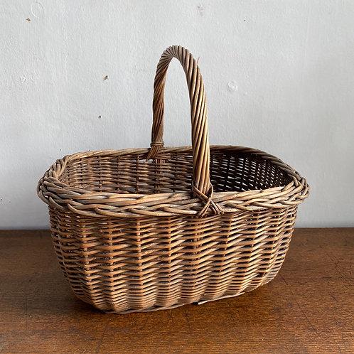 Vintage Wicker Shopping Basket