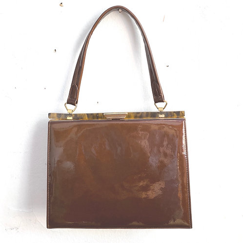 Vintage Patent Leather Kelly Bag