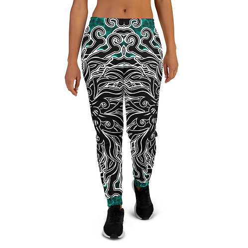 11K21 Oddflower Jade Vine Women's Joggers