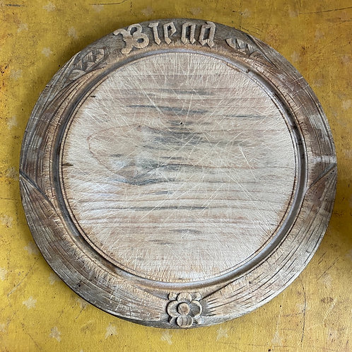 Antique Carved Bread Board