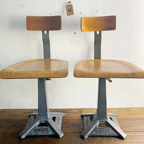 Mid Century Singer Machinists Chair
