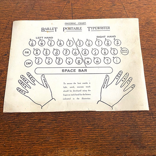 Vintage Bar-let Fingering Chart