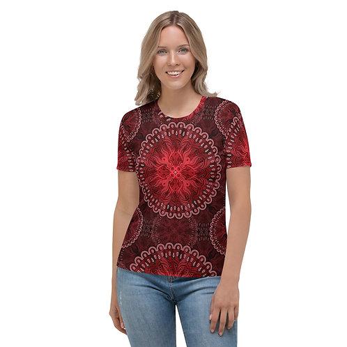 10N21 OddSpectrum Red Women's T-shirt