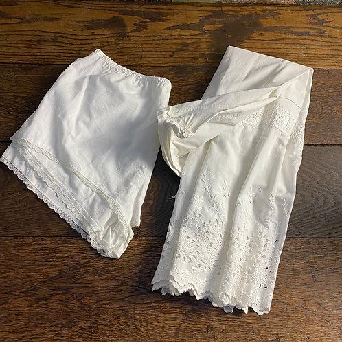 Victorian Cotton Petticoat and Cotton Knickers