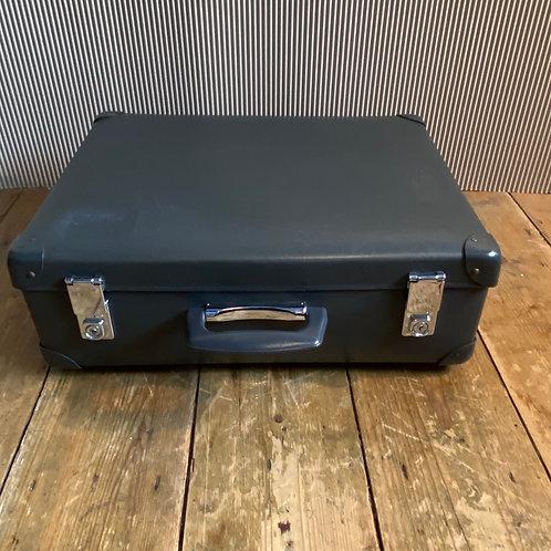 Small Vintage Grey Flight Globe Trotter Suitcase