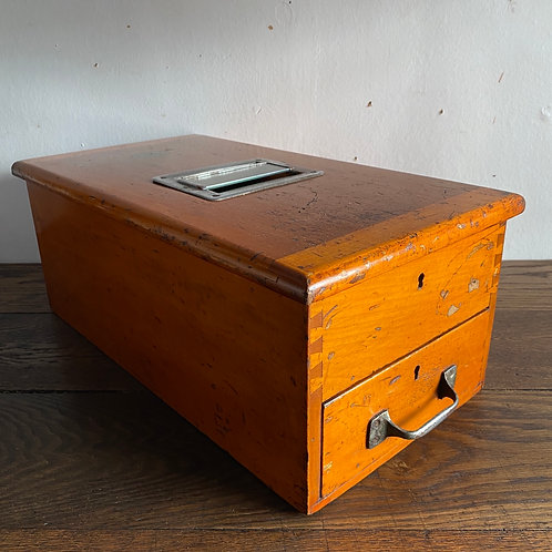 Antique Wooden Cash Till