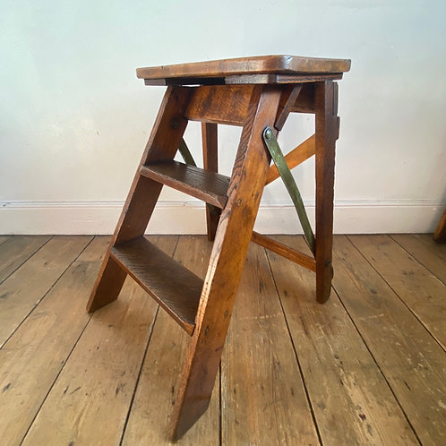 Vintage Folding Wooden Step Stool