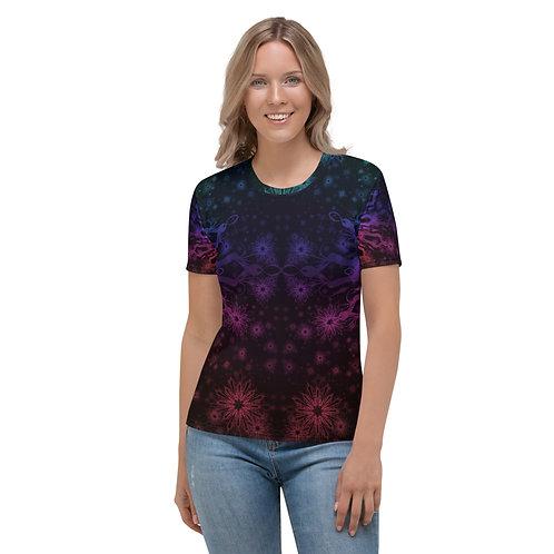 138V1. Elegant Bromeliad Snowflake Colorwild I Women's T-shirt