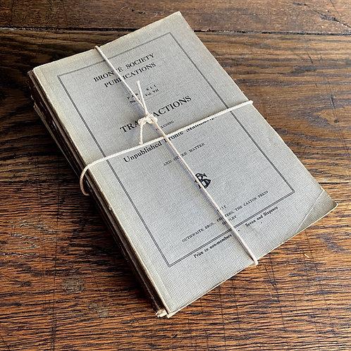 Seven Brontë Society Paperback Transactions