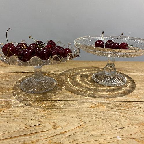 Vintage Pressed Glass Cakestand