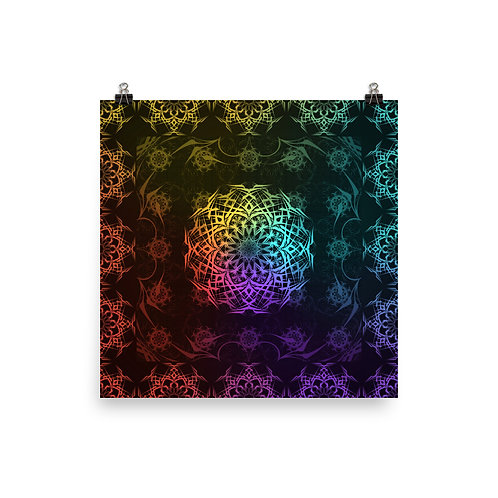 119. Stained Glass Colorwild I | Matte finish Print