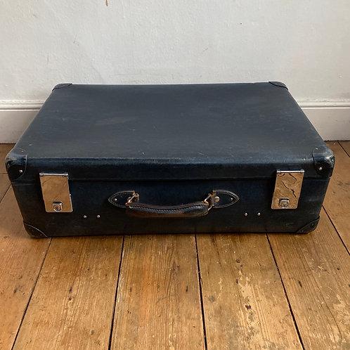 Vintage Blue Globe Trotter Suitcase