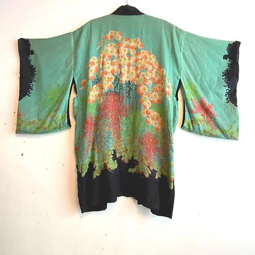 Antique Japanese Silk Kimono