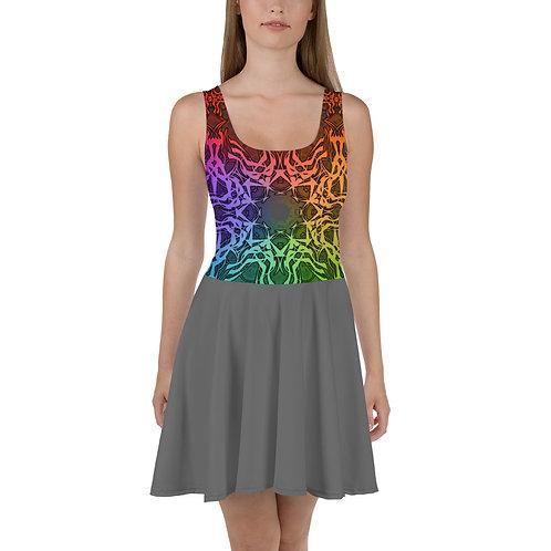 7C21 Spectrum Gray V2 Skater Dress