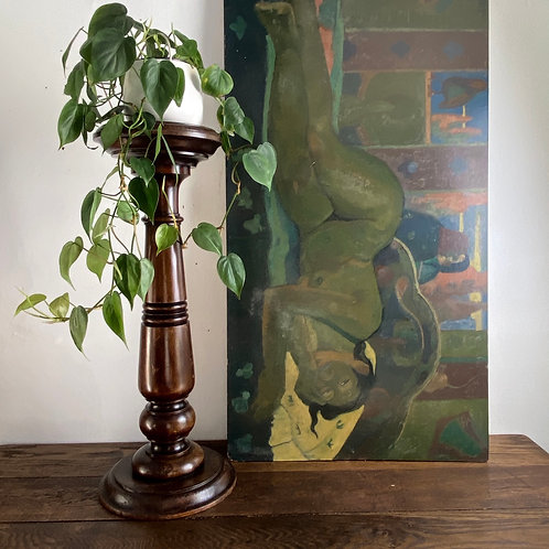 Victorian Turned Wooden Pedestal