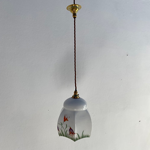 1930's Painted Glass Boudoir Shade