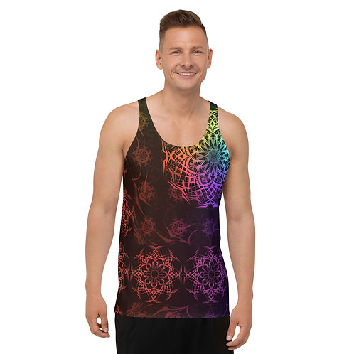 119V1 Stained Glass Colorwild I Unisex Tank Top