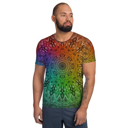 4C21 Spectrum Gray All-Over Print Men's Athletic T-shirt