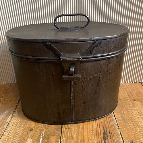 Antique Tin Hat Tin