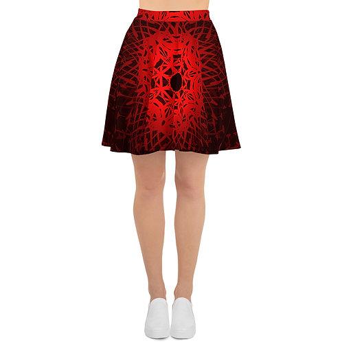 1V21 Spectrum Red V1 Skater Skirt