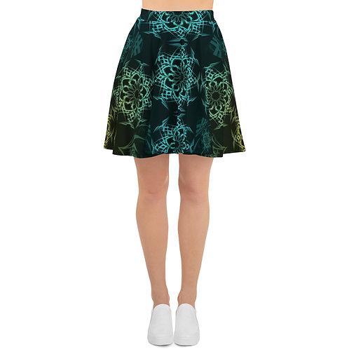 119 Stained Glass Colorwild I V4 Skater Skirt