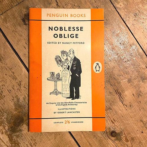 Vintage Penguin: Noblesse Oblige edited by Nancy Mitford