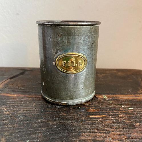 Antique Tin Gill Measure
