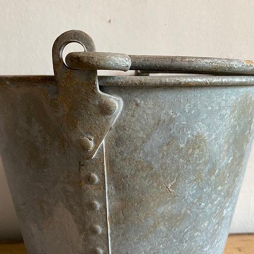 Large Vintage Galvanised Bucket