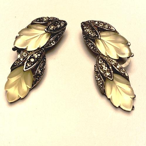 Elegant 1950's Clip-on Earrings