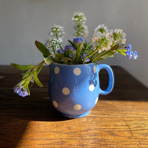 T G Green Blue and White Spotty Jug