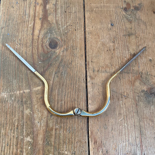 Antique Brass and Steel Calipers Dividers