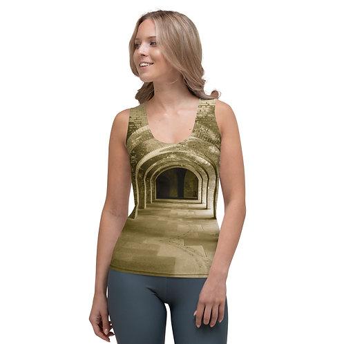 10 Inca Gold Sublimation Cut & Sew Tank Top