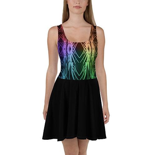 3A21 Spectrum Black V2 Skater Dress