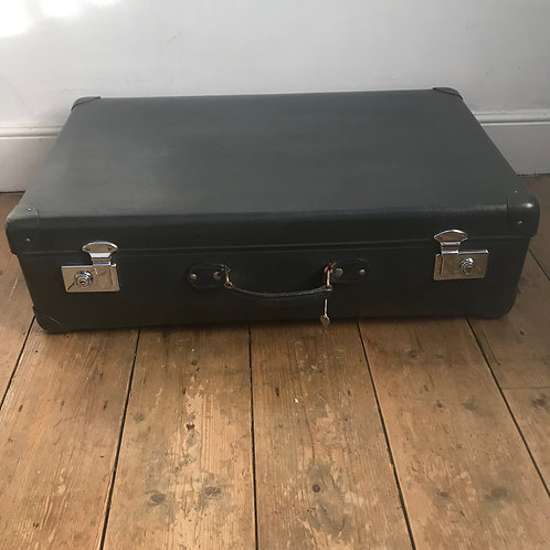 1950's Grey Globe Trotter Suitcase