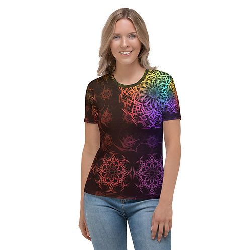 119V1 Stained Glass Colorwild I Women's T-shirt