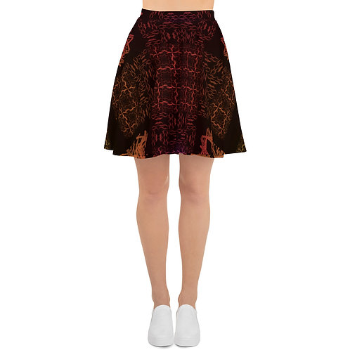 120 Barb Wire Colorwild I V4 Skater Skirt