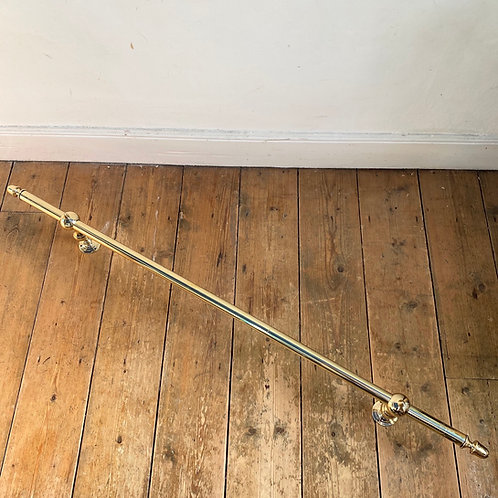 Large Antique Brass Hand Rail