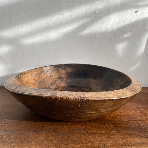 Antique Sycamore Dairy Bowl