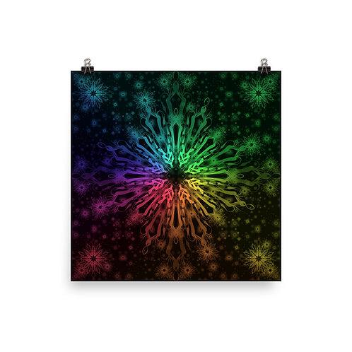 138. Elegant Bromeliad Snowflake Colorwild I | Matte finish Print