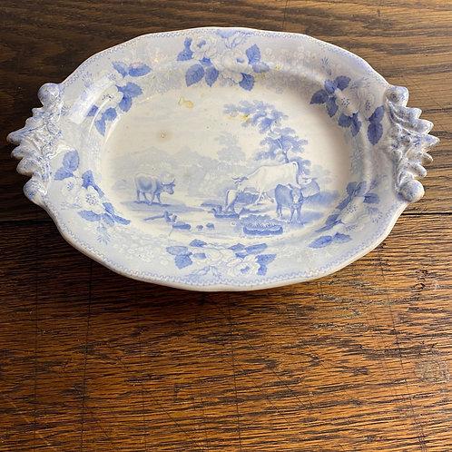Antique Blue & White Dish
