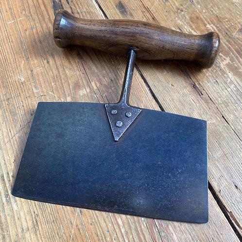 Antique Steel & Wood Herb/Dough Cutter