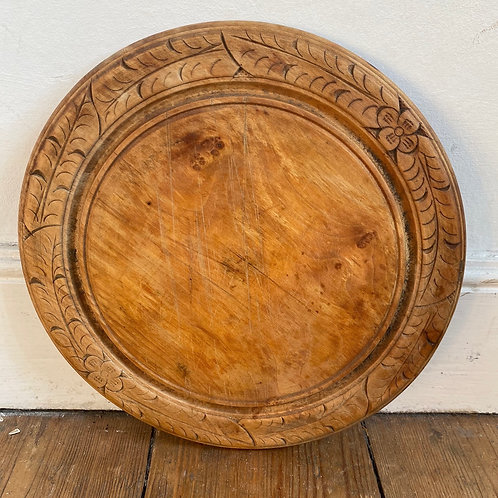 Antique Carved Sycamore Bread Board