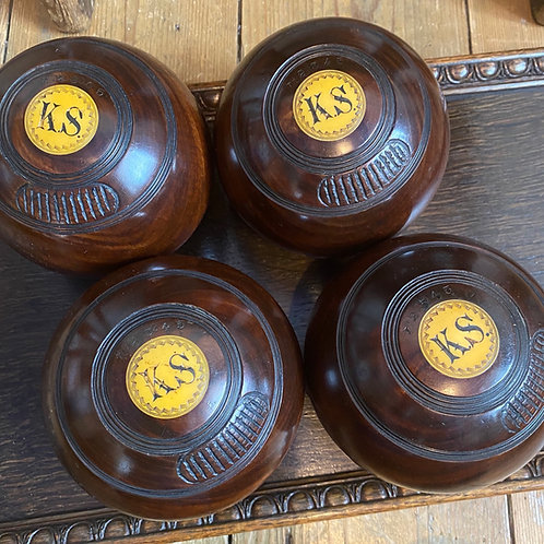 Set of Four Lignum Vitae Bowls